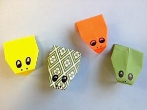 Origami Kaeru Frogs
