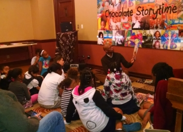 Emerson Reading to Kids