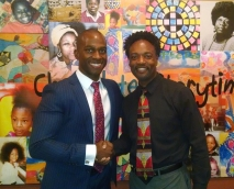 PUSD Board Memeber and City Council Candidate with Actor, Director, Producer, Jose Turner